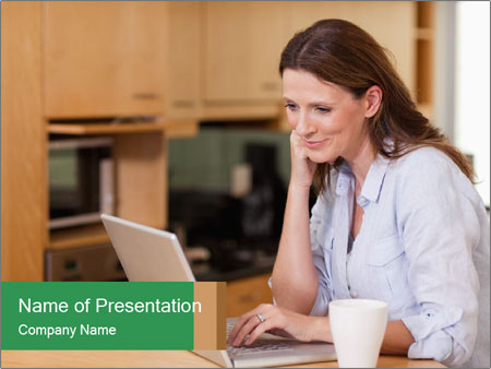 Smiling woman PowerPoint Templates