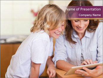 Mother and son PowerPoint Template - Slide 1