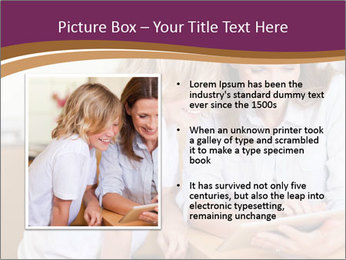 Mother and son PowerPoint Template - Slide 13