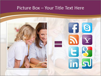 Mother and son PowerPoint Template - Slide 21