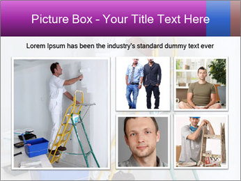 Man painting wall PowerPoint Templates - Slide 19