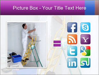 Man painting wall PowerPoint Templates - Slide 21