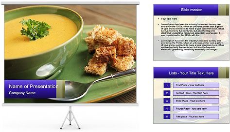 Vegetables soup PowerPoint Template