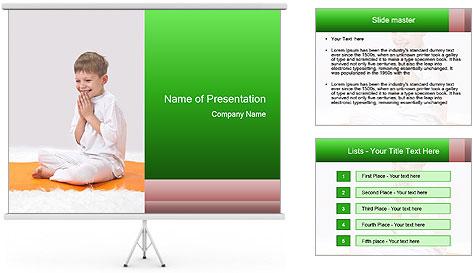 Children's yoga PowerPoint Template