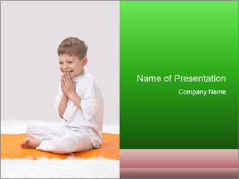 Children's yoga PowerPoint Templates - Slide 1