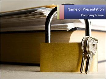 Key lock PowerPoint Template - Slide 1