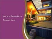 Villa in summer PowerPoint Templates