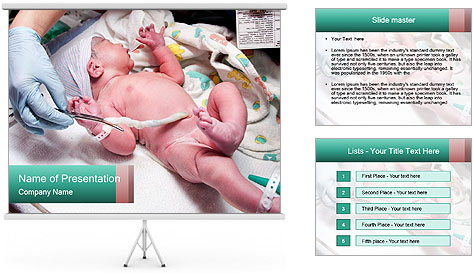Newborn cute infant baby PowerPoint Template