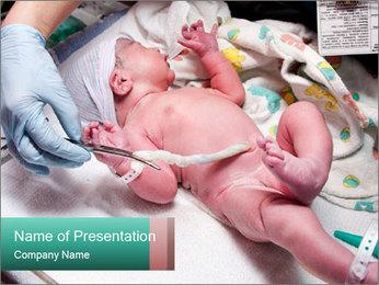 Newborn cute infant baby PowerPoint Template - Slide 1