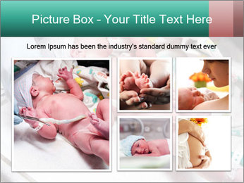 Newborn cute infant baby PowerPoint Template - Slide 19