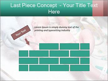 Newborn cute infant baby PowerPoint Template - Slide 46