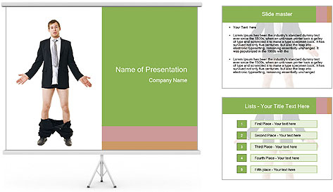 Man with his pants PowerPoint Template