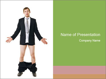 Man with his pants PowerPoint Templates - Slide 1