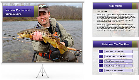 A fly fisherman PowerPoint Template