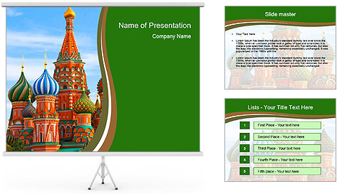 Place In Moscow, Saint Basil's Cathedral PowerPoint Template