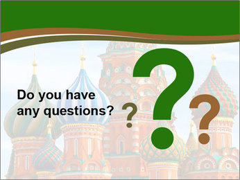 Place In Moscow, Saint Basil's Cathedral PowerPoint Templates - Slide 96