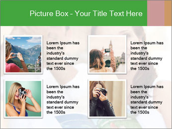 Tourists with camera PowerPoint Template - Slide 14