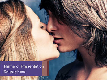 Couple kissing PowerPoint Templates - Slide 1