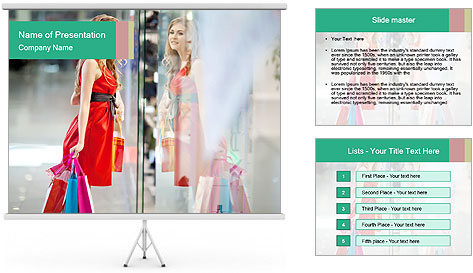 Photo of young joyful woman PowerPoint Template