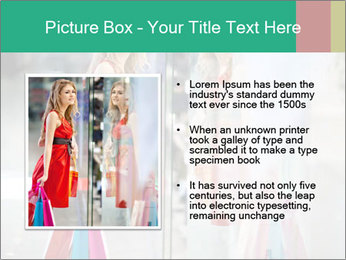 Photo of young joyful woman PowerPoint Template - Slide 13