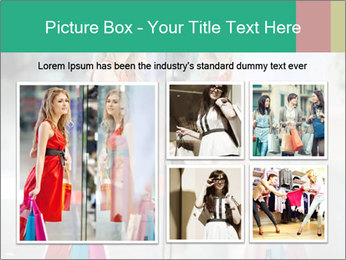 Photo of young joyful woman PowerPoint Template - Slide 19