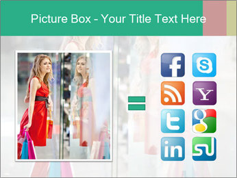 Photo of young joyful woman PowerPoint Template - Slide 21
