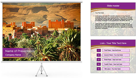 Moroccan kasbah PowerPoint Template