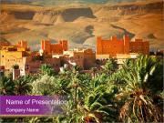 Moroccan kasbah PowerPoint Templates