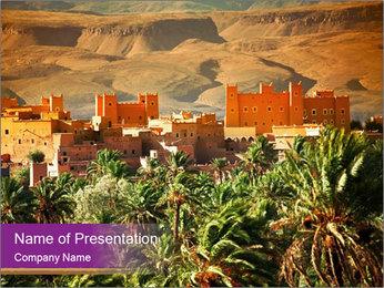Moroccan kasbah PowerPoint Template - Slide 1