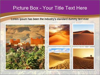 Moroccan kasbah PowerPoint Template - Slide 19