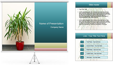 Green houseplant PowerPoint Template