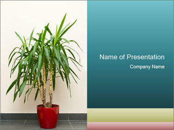 Green houseplant PowerPoint Template - Slide 1