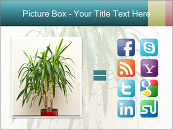 Green houseplant PowerPoint Template - Slide 21