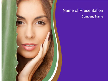 Picture of lovely woman PowerPoint Template