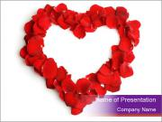 Beautiful heart of red rose PowerPoint Templates