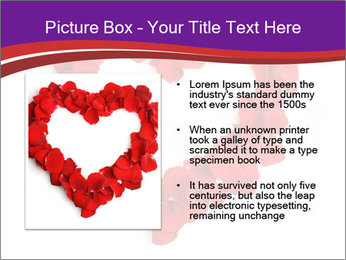 Beautiful heart of red rose PowerPoint Templates - Slide 13