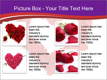 Beautiful heart of red rose PowerPoint Templates - Slide 14