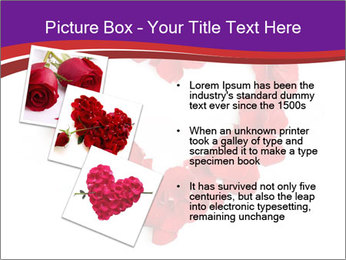 Beautiful heart of red rose PowerPoint Templates - Slide 17