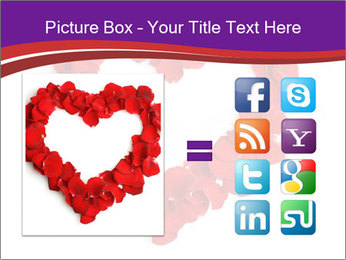 Beautiful heart of red rose PowerPoint Templates - Slide 21