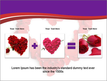 Beautiful heart of red rose PowerPoint Templates - Slide 22