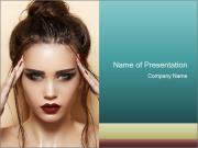 Hot young woman PowerPoint Template