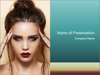 Hot young woman PowerPoint Templates - Slide 1