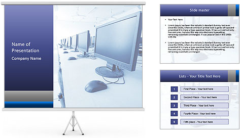 Computer Lab PowerPoint Template
