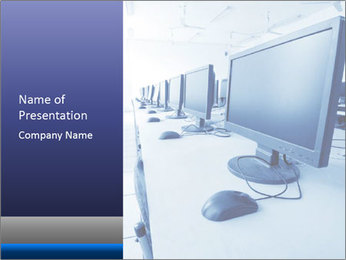 Computer Lab PowerPoint Template - Slide 1