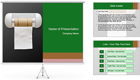 A last pad PowerPoint Template