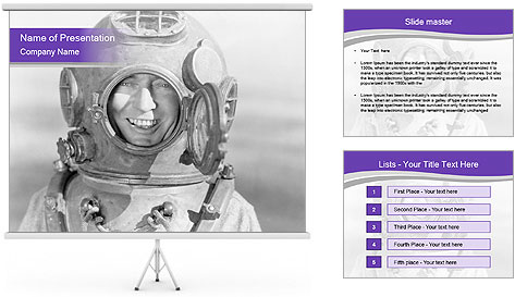 Portrait of man PowerPoint Template