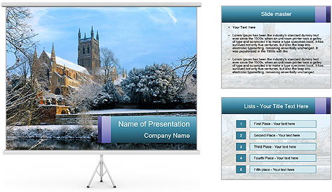 Snow covered PowerPoint Template