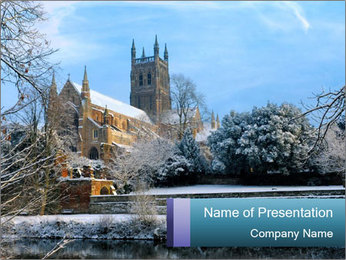 Snow covered PowerPoint Template - Slide 1