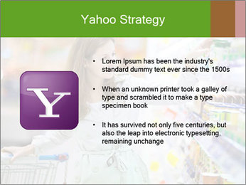 Beautiful young woman shopping PowerPoint Template - Slide 11
