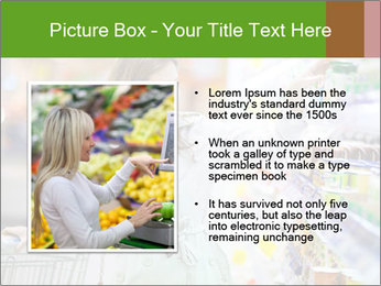 Beautiful young woman shopping PowerPoint Template - Slide 13